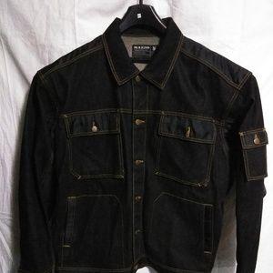 Mazzo Men Denim Jacket Size 3XL Denim Black